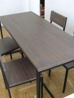 Обеденный стол и стулья из дуба в стиле Лофт